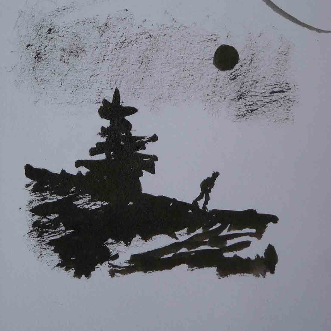 Sculpture Formation - dessin encre