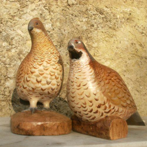 Sculpture Formation - commande - sculpture bois - gelinotte