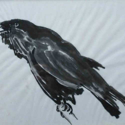 Sculpture Formation - dessin - Grand corbeau
