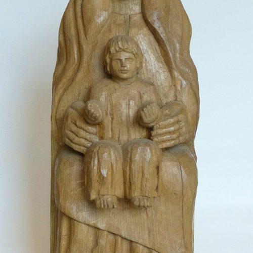 Sculpture Formation - commande - sculpture bois - Vierge à l'enfant